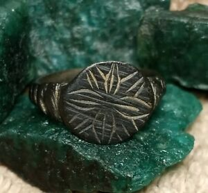 2000 YR OLD TIME OF CHRIST JESUS ANCIENT ROMAN BRONZE RING size # 7 $59.00