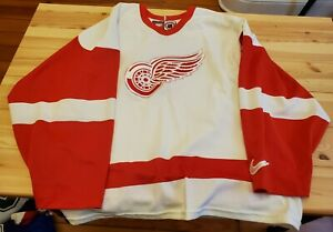 Detroit Red Wings White Nike Jersey Late 1990s Mens Size L $40.00