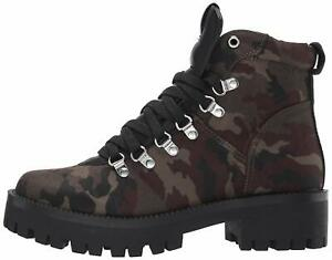 Steve Madden Womens Bumper Fabric Almond Toe Ankle Fashion Camouflage Size 6.0