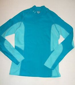 Under Armour Cold Gear Mock Compression Shirt Womens M Turquoise Ski Run Camp $24.00