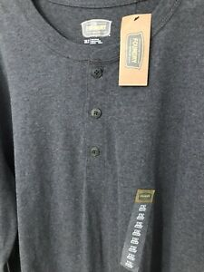 NWT Foundry Henley Shirt Mens XLT Gray Pullover $17.99