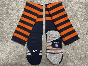 NEW NFL Nike Chicago Bears 1936 Throwback Team Issue Game Socks. Size Large.