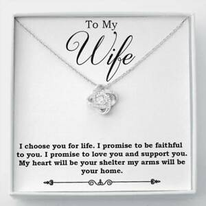 To My Wife Necklace Birthday Gift for Wife Gift for Wife Necklace for Wife