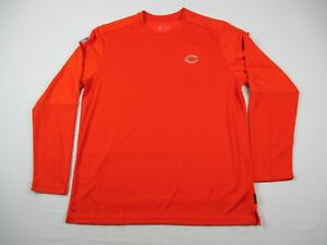 Chicago Bears Nike Long Sleeve Shirt Men#x27;s Orange Dri Fit Used XL