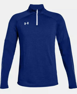Under Armour Mens 4XL Qualifier Hybrid 1 4 Zip Pullover 1327205 Royal Blue $29.99