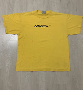 mens yellow nike XL t shirt $15.00