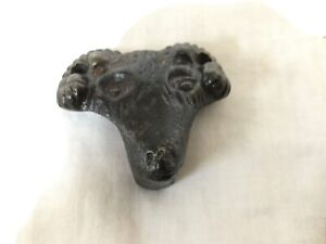 Antique Treadle Sewing Machine Rams Head Drawer Pull $18.50