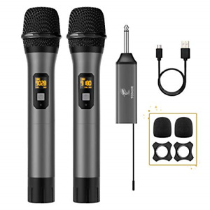 Wireless Microphone TONOR UHF Dual Cordless Metal Dynamic Mic System with for $66.99