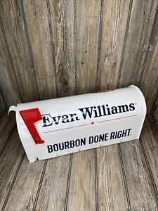 Evan Williams Since 1783 Bourbon Done Right metal mailbox whiskey liquor New $51.00