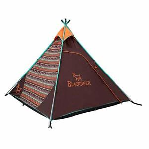 BLACKDEER Teepee Tent Sleeps 4 Person Perfect for Camping for Family and ...