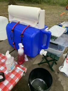 5 Gallon Water Carrier Jug Blue Coleman Fishing Plastic Container Camping Hiking
