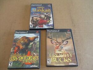 Lot of 3 PlayStation 2 Cabela's Hunting Games Cleaned amp; Polished