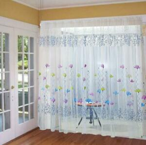 1 piece Perfect Wonderful Soft Lotus Sheer Curtain Voile Drape for Home Window