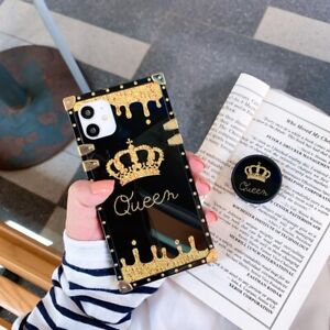 Luxury Fashion Crown Metal Square Case Cover for iPhone 12 Pro Max 11 XS XR 8 7 $10.38