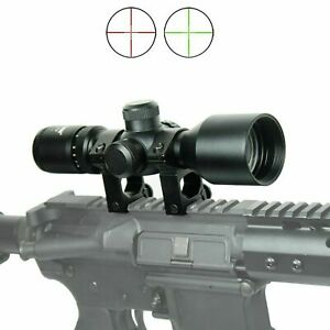 WLT 3 9x40 Hunting Tactical Rifle Scope Mil dot illuminated Compact 7.5quot;