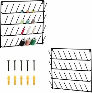 2 Pack Metal 32 Spool Sewing Thread Rack Wall Mounted Sewing Thread Holder $22.99