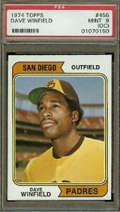 1974 Topps Dave Winfield RC #459 PSA 9 OC EYE APPEAL RATING: TOP 25%