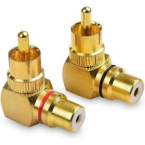 2 Pack Right Angle RCA Adapter 90 Degree RCA Adapter $12.99