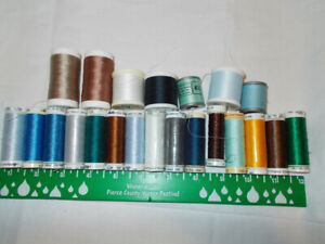 22 Spools METTLER Thread New Polyester Sewing Embroidery Bernina Viking Machine $38.00