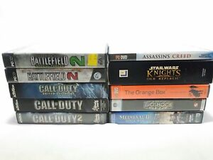 Lot 10 PC Games call duty battlefield 2 expansion half life bioshock star a3 $69.85