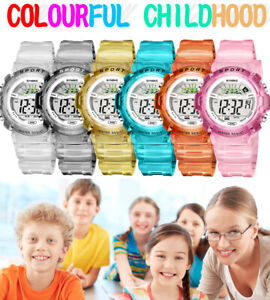 Waterproof Children Watch Boys Girls LED Digital Sports Watches for Kids US SHIP $7.99