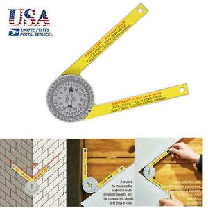 360 Degree Miter Saw Protractor High Accuracy Angle Finder Measuring Ruler Tool $10.22