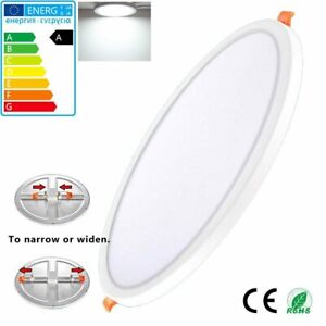 2 Pack Recessed LED Panel Ceiling Light Fixtures 6W 15W 20W Round Down Lamps