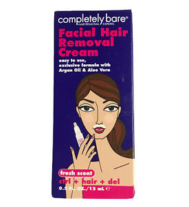 Facial Hair Removal Cream Control Hair Completely Bare Easy To Use 0.5 oz NEW $8.89