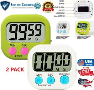 Magnetic Digital Kitchen Timer Large LCD Count Down amp; UP Loud Alarm Study sport $10.48