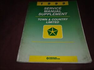 1999 Chrysler Town Country Limited Service Manual Supplement $8.00