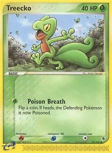 Pokemon Treecko 75 109 Ex Ruby and Sapphire Common Near Mint