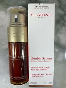 Clarins Double Serum Complete Age Control Concentrate 1.6 oz 50 ml NEW $42.75