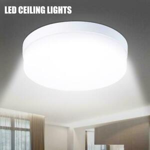 Round LED Ceiling Down Light Ultra Thin Flush Mount Kitchen Lamp Home Fixture