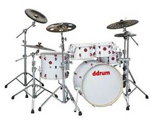 ddrum Hybrid 5 Player 5 piece Acoustic Electronic Drum Set White Wrap Finish $699.00