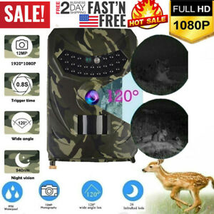 Hunting Wildlife Game Trail Video Outdoor Camera 12MP CMOS 1080P HD IP56 US A3X3