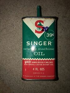 Antique Singer Sewing Machine Oil Can empty $22.99