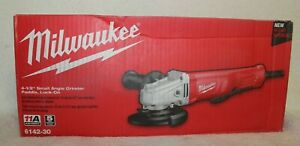 Milwaukee 6142 30 4 1 2 in. Small Angle Grinder with Lock On Paddle Switch New $94.95