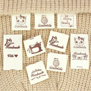 50pcs Handmade with Love Sewing Labels Tags Hat Garment Label for Clothes Sewing $2.49