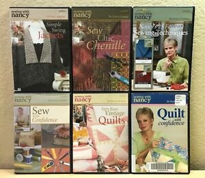 SEWING WITH NANCY 6 DVD Lot Jackets Chenille Quilts Techniques... $45.00