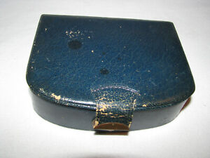 Vintage Faux Navy Blue Leather Small Sewing Box $10.00
