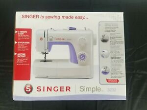 Singer Simple 3232 Sewing Machine w 32 Built In Stitches Sewing Made Easy $115.49