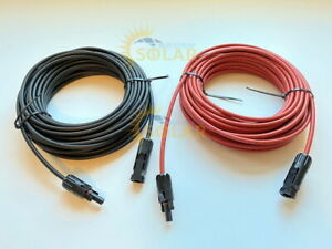 100 of Solar PV wire red and black new. Liquidation 1000V with Connectors