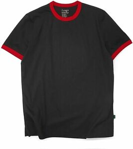 Mens Ringer Tee Crew Neck Athletic T Shirts Short Sleeve Sport Shirt for Men $32.29