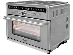 Rosewill Air Fryer Convection Toaster Oven Stainless Steel Exterior Family Siz