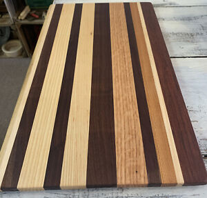 Extra Long 21 6 8 X 12 X 1 2 Mixed Wood Chef's Cutting Charcuterie Pastry Board