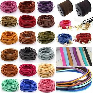 10yd 3mm Suede Leather String Jewelry Making Bracelet DIY Thread Cord Wholesale C $3.68
