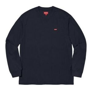 Supreme Small Box L S Tee Navy Size M FW20KN6 New $100.00