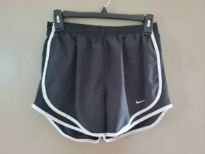 Womens Nike Dri Fit Shorts Running Black Lined Size Small $13.99