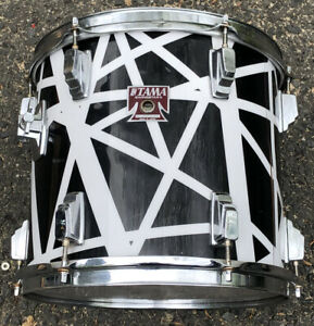"TAMA 13"" SWINGSTAR Tom DRUM IN HALEN WRAP Black JAPAN $120.00"