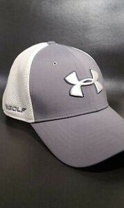 Under Armour Golf Hat L XL Gray and White $19.99
